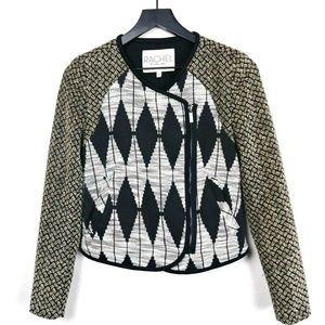 RACHEL Rachel Roy Geometric Contrast Print Jacket